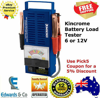 Kincrome Car Battery Load Tester 6 /12V 100A Heavy Duty Volt Meter Analyser