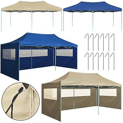 3m x 6m Garden Heavy Duty Pop Up Gazebo Marquee BBQ Party Tent Wedding Canopy