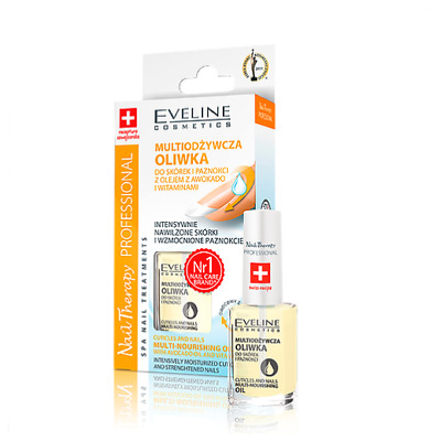 EVELINE CUTICLES & NAILS MULTI-NOURISHING OIL WITH AVOCADO OIL & VITAMINS - 12ml