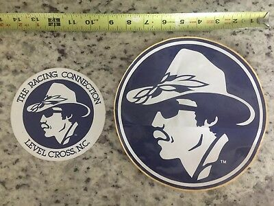 Vintage Nascar Lot Of 2 Richard Petty STP Stickers From 1980s From Petty Entrpr