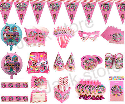 LOL Surprise Birthday Party Decoration Kids Girls Favor Tablecloth Cup Balloons