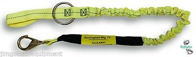 """Tear Away Bungee Chainsaw Lanyard,48""""With #2 bronze snap saddle end attachment"""