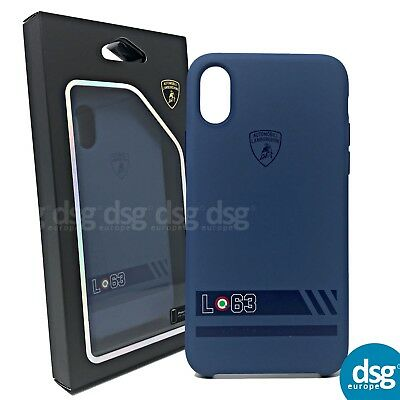 Genuine Official Lamborghini Huracan-D13 Silicon Back Cover Case for iPhone X 10