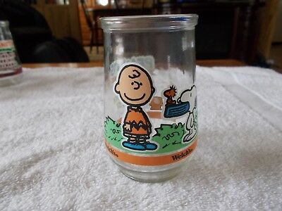 "Peanuts Welch's Jelly Glass Jar # 6 ""Two for Lunch Please"""