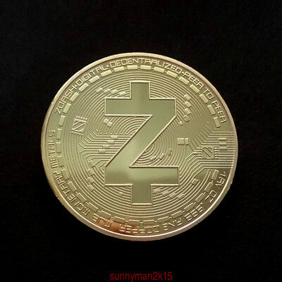 Zcash ZEC commemorative collector coin crypto Golden