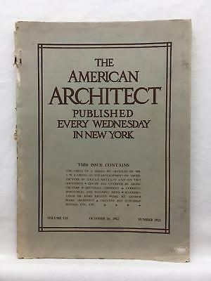 AMERICAN ARCHITECT 10/16 1912 Trade Journal Architecture Hudson County Park NJ