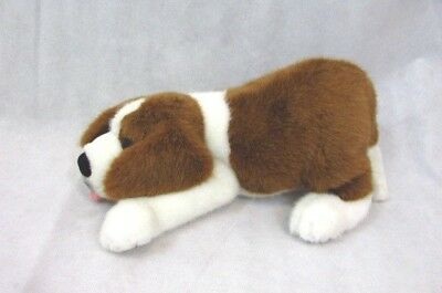 Vintage St Bernard Plush Dog Playful Pup Nose to Floor & Rump in the Air 15""