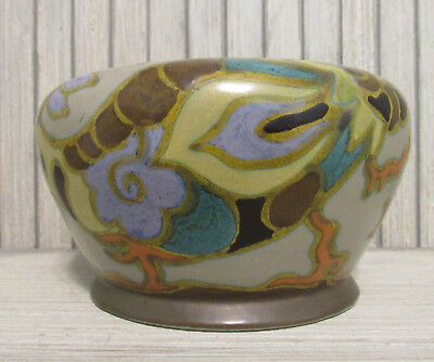 Vintage GOUDA Holland Art Pottery Bowl PRINCESS IVORA 5 x 3""