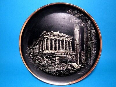 Amazing Vintage Copper Wall Plate, The Parthenon Of Athena, Greece!!!