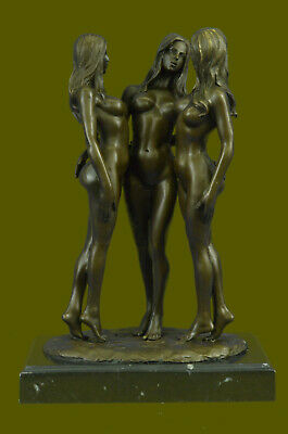 Three nude bronze Naked Girl statuettes statues Figurines by Mavchi  Art Deal