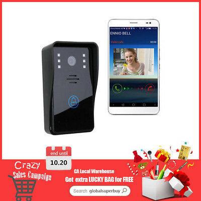Wireless WiFi Remote Doorbell With HD Camera Video rain-proof  Home Security CA