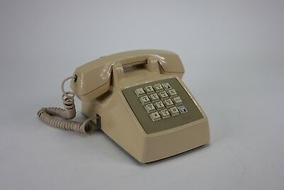 Vintage AT&T Beige Touch Tone Desk Telephone Push Button Retro Collectable