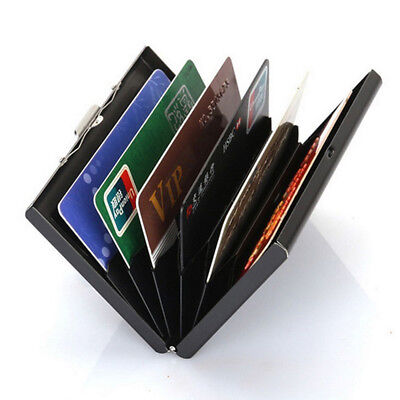 RFID Blocking Credit Card ID Holder Stainless Steel Slim Money Travel Wallet Men