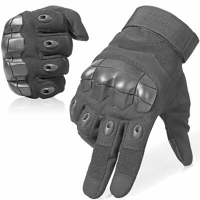 All Weather Leather Motorbike Motor cycle Gloves Carbon Fiber Knuckle New