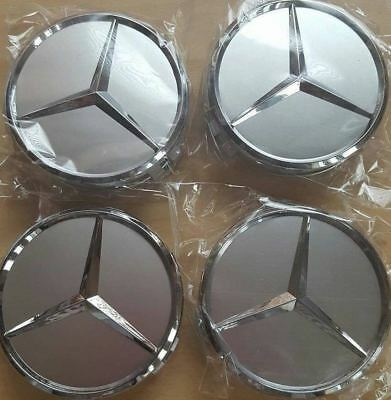 4Pcs 75mm Wheel Center Caps Rim Hub Cap Car Logo Emblem for Mercedes Benz