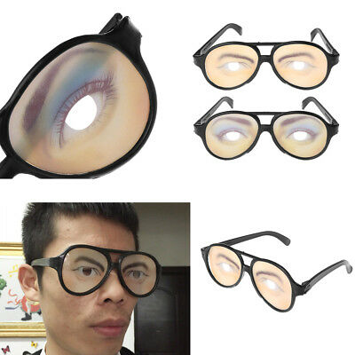 Crazy Eyes Glasses Funny Specs Shape Changing Shades Halloween Party Joke Gifts