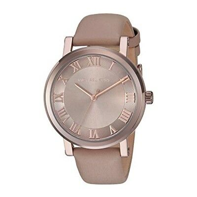 9aa57c1999ee New Michael Kors MK2621 Norie Brown Leather Strap Chronograph Dial Ladies  Watch