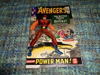 The Avengers #21 (Oct.1965, Marvel) First Appearance Power Man High Grade Vf/nm