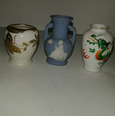 Antique Small Vases Made In Occupied Japan