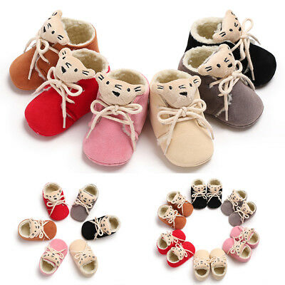 Baby Girl Boys Winter Warm Boots Toddler Infant Soft Sock Booties Shoes New