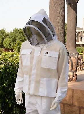 Ultra Ventilated 3 Layer Mesh Ventilated Beekeeping Jacket Cool Bee Hive Size Xl