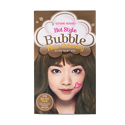 *ETUDE HOUSE* NEW Hot Style Bubble Hair Coloring (BR09 - Gold Ash Brown)