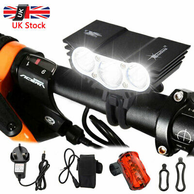 8000LM Cycling Lights Bicycle MTB Bike LED Front Tail Rear Lamp Rechargeable Set