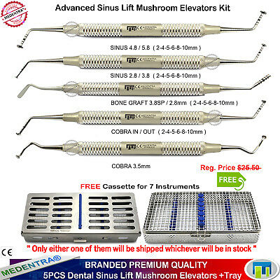Dental Mushroom Sinus Lift Periosteal Elevators Implant Root Coverage Graft+Tray