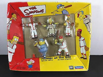 Playmates The Simpsons Figures Homer At The Bat NEW IN BOX