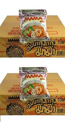 Doppelpack: 2 Kartons MAMA Shrimp Instant Nudel Suppe 60 x 60g Tom Yam Yum