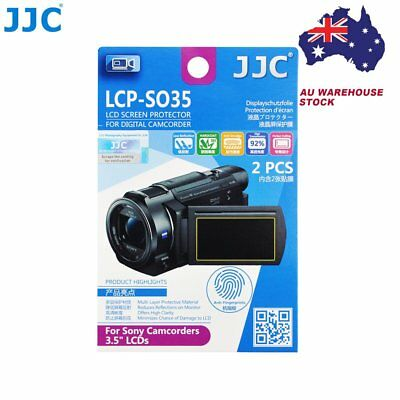 """JJC LCP-SO35 Film Screen Display Protector for SONY 3.5"""" LCD Camcorders x2 _AU"""