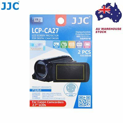 """JJC LCP-CA27 Film Screen Display Protector for CANON 2.7"""" LCD Camcorders x2 _AU"""