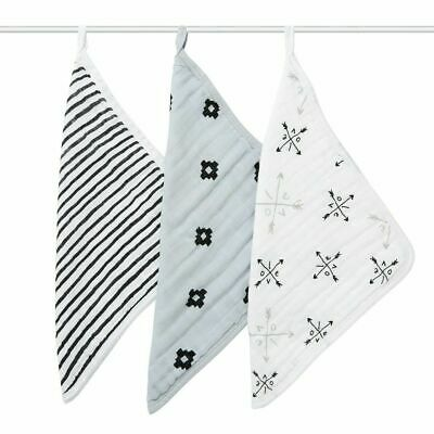 NEW aden + anais 3 Pack Muslin Washcloths - Lovestruck