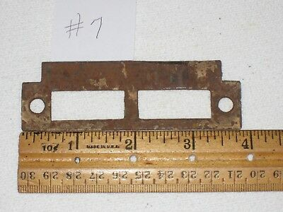 Vintage Mortise Door Lock Strike Plate Keeper #7