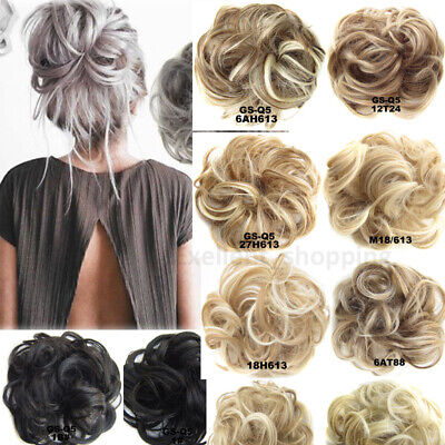 40g SALON MIX LARGE THICK Curly Chignon Messy Curly Bun Updo Clip in Hair Piece