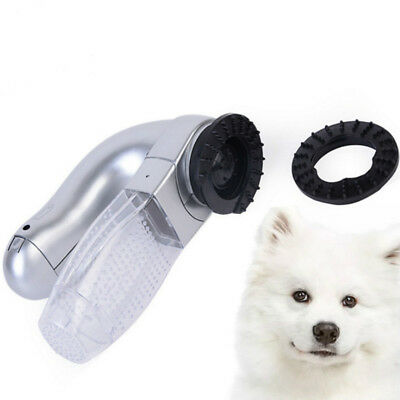 Dog Grooming Portable Massage Clean Fur Electric Pet Hair Remover Suction Device