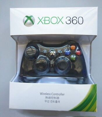 Official Microsoft Xbox 360 Wireless Controller Gamepad Black/white CA Stock E7B