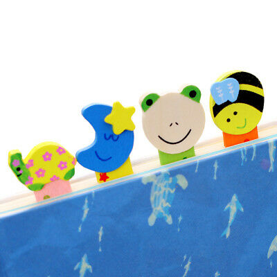 5 Pcs/lot Wood Animal Ruler Bookmark Students Stationery Colorful Children Gifts