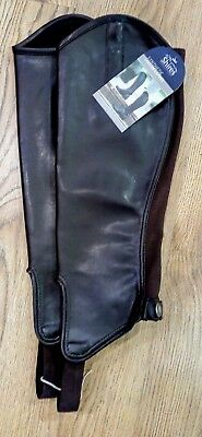 Shires Synthetic Leather Gaiters in Black & Brown. New. Free P&P