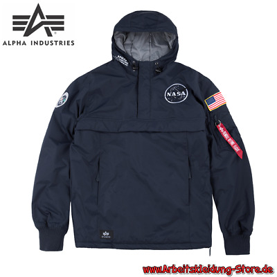 ALPHA INDUSTRIES NASA Anorak Schlupfjacke Windbreaker Rep