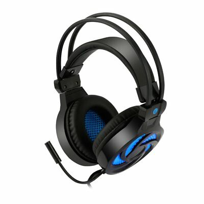 Gaming Headset for PlayStation PS4 Tablet PC 3.5mm Headphone Mic Laptop LED