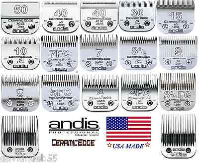 ANDIS AG/BG/A5 CeramicEdge Steel CERAMIC Blade Fit Most Oster,Wahl,Laube Clipper