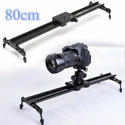 "32'' 80cm Studio Camera Track Dolly Slider Video Stabilizer Rail 1/4"" +CASE AU"