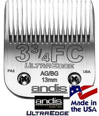 ANDIS ULTRAEDGE 3 3/4FC 3F BLADE Fit Most Oster,Wahl,Laube Clipper Pet Grooming