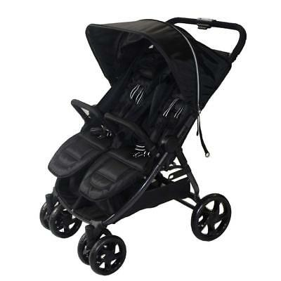 New Redkite Push Me Twini Stroller Double Pushchair Twin Buggy Carbon Black