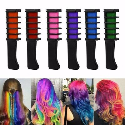 Temporary Hair Chalk Color Comb Dye Kits Disposable Cosplay Party Hairs Dyeing M