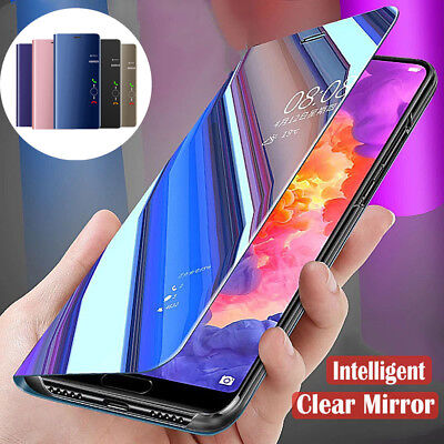 For Huawei Nova 3i Shockproof 360° Clear View Case Cover Mirror Flip Stand Cover