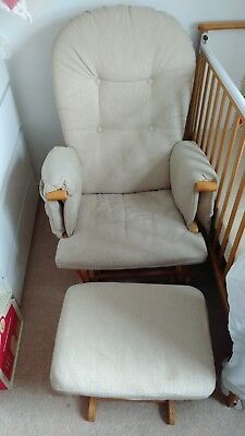 Baby Nursing Glider Maternity feeding Chair and foot stool