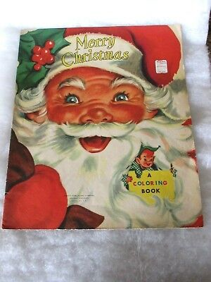 VINTAGE HONEY BEAR Books Giant Christmas Coloring & Activity Book ...