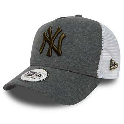 b502730af4fad Casquette New Era Ajustable Mlb New York Yankees Jers Esnl Trucker Gris  Homme